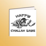 Load image into Gallery viewer, funny hanukkah holiday card with a loaf of challah bread pun