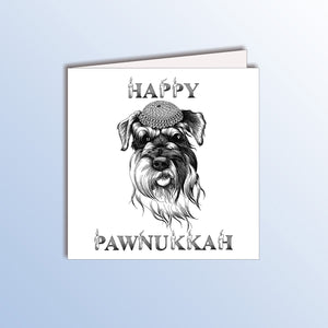 funny hanukkah holiday card with a dog animal pun