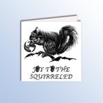 Load image into Gallery viewer, funny birthday card with a squirrel holding the earth animal pun