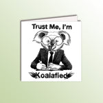 Load image into Gallery viewer, funny birthday card with a koala businessman animal pun