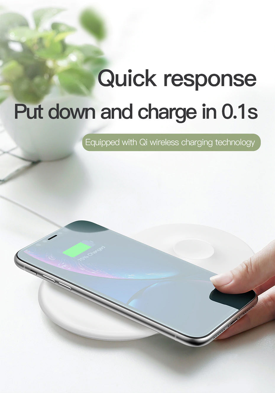 2 in 1 Wireless Charger For iPhone X XS Max XR Apple Watch 3 2 Wireless Charging Pad (Not Support For Apple Watch 4)