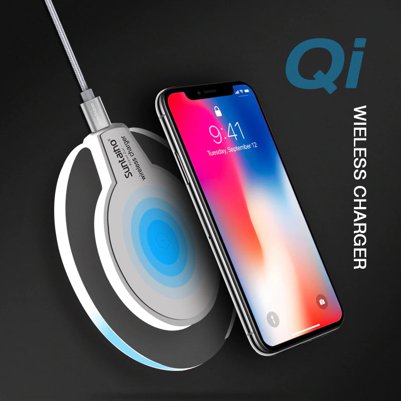Qi Wireless Charger Charging Dock for iPhone XS MAX XR and Samsung Galaxy S9 S8 Plus