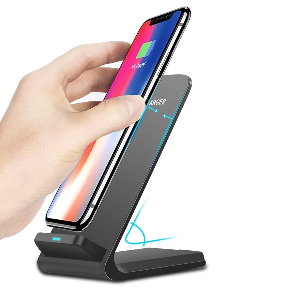 10W Qi Wireless Charger For iPhone X XS Max 8 Plus Fast Charging Holder For Samsung S9 S8 Phone Fast Charger