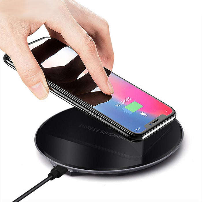 Qi Wireless Charger for iPhone X 8 XS Max XR Wireless Charging for Samsung S9 S8 Note 9 Xiaomi Mix 2s USB Charger Pad Dock