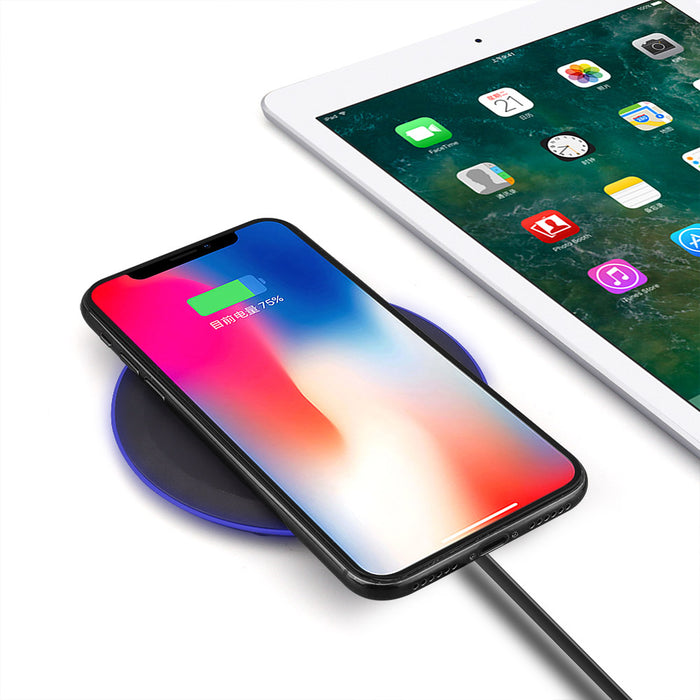 QI Wireless Charger For iPhone X 8 XS Max XR Samsung S9 S8 Plus Xiaomi Mix 3 2s Wireless Charging Pad Docking Dock Station
