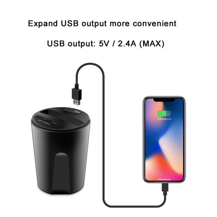 Car Wireless Charger-Wireless Charger Cup Car Wireless Charger Cup Holder Qi Charger Stand, Qi Charging Pad for iPhone 8 x S7