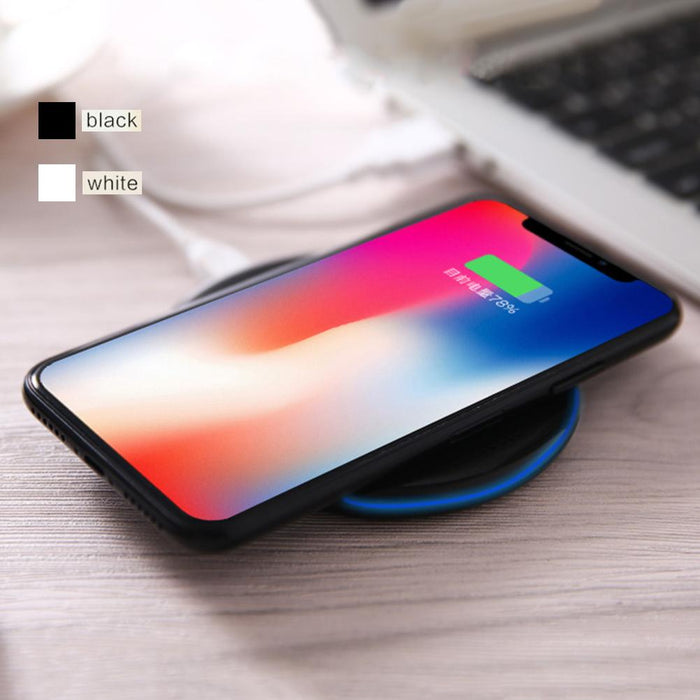Portable Wireless Charger Pad Transmitter Charging Station for iPhone Samsung Phone Wireless Charger