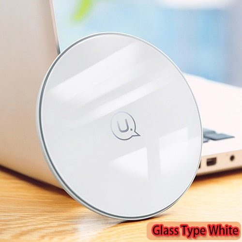 Qi Wireless Charger for iPhone X/XS Max XR 8 8 Plus 10W 5V2A Glass fast Wireless charging for Samsung S8 S9/S9+ Note 9 8