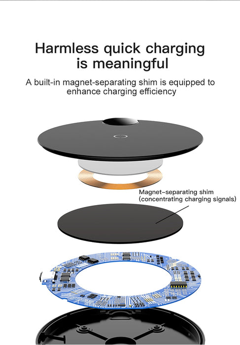 LED Digital Display Wireless Charger for iPhone XS Max XR X 8 Qi Wireless Charging Pad for Samsung Galaxy S8 S9+ Note 9 8