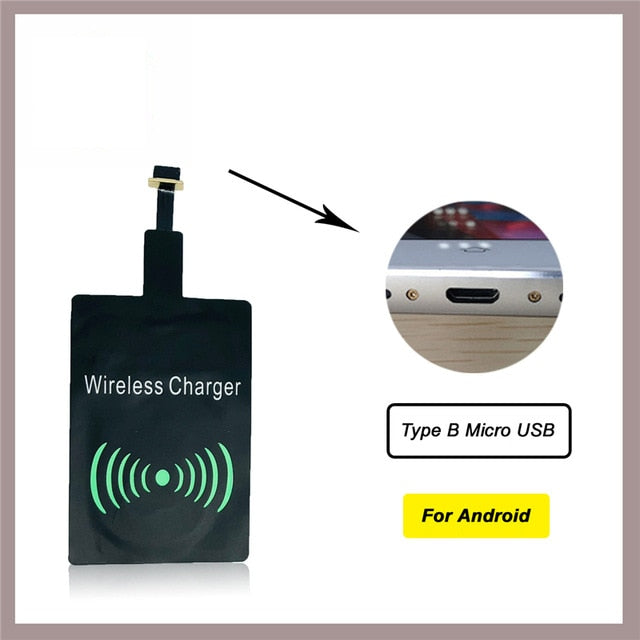 Thin Qi Wireless Charger for iPhone X/XS Max XR 8 Plus Visible Element Wireless Charging Pad for Samsung S8 S9 Note 9 5 Receiver