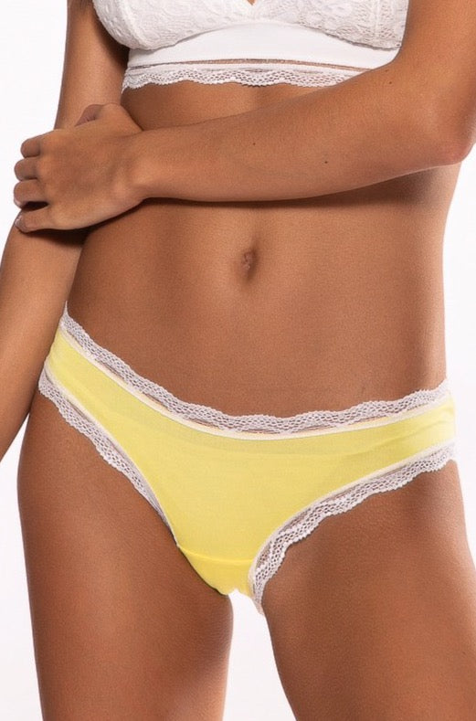 Lemon Yellow Plain Knicker
