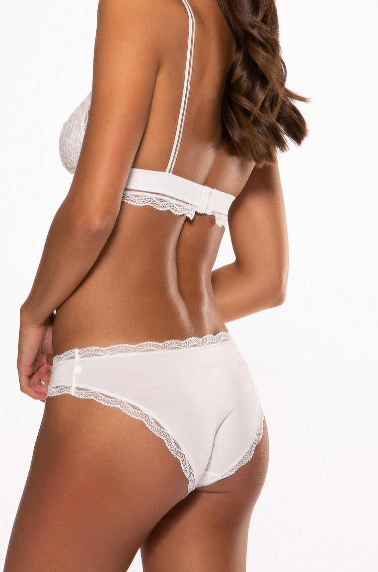 Heartbreaker Embroidered White Knicker