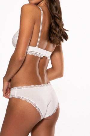 Limited Edition Bright White Oh Deer Embroidery Knicker
