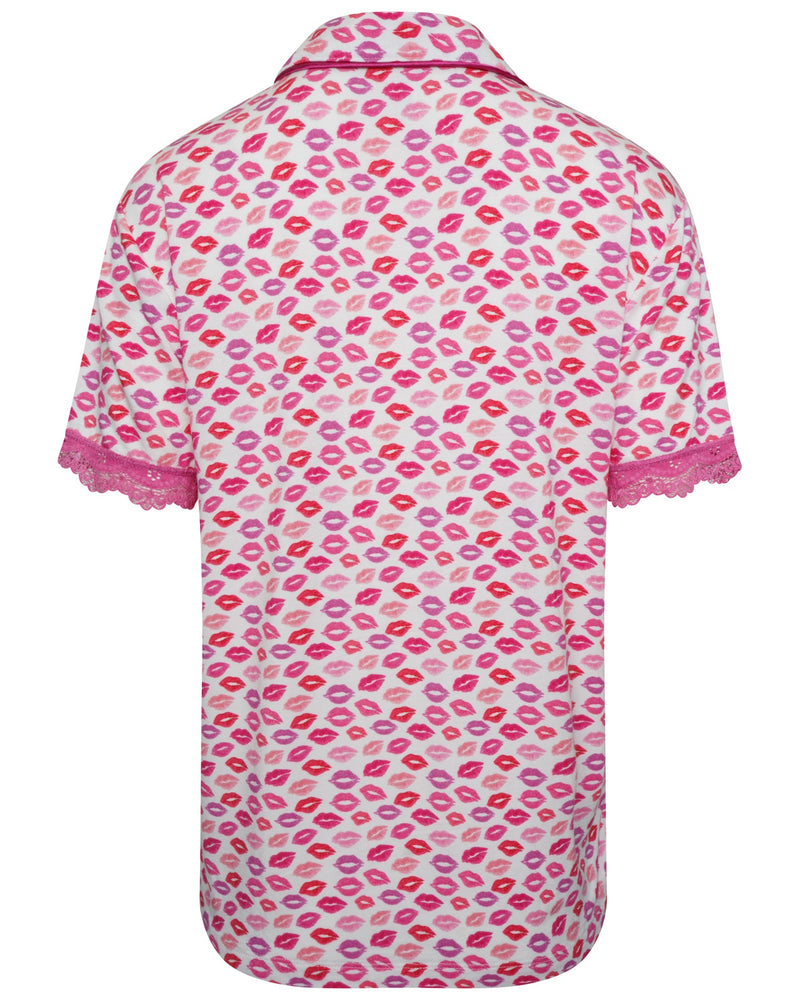 Kisses Print Pyjama Shirt
