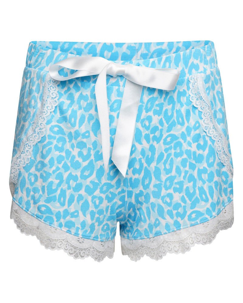 Blue Leopard Print Short