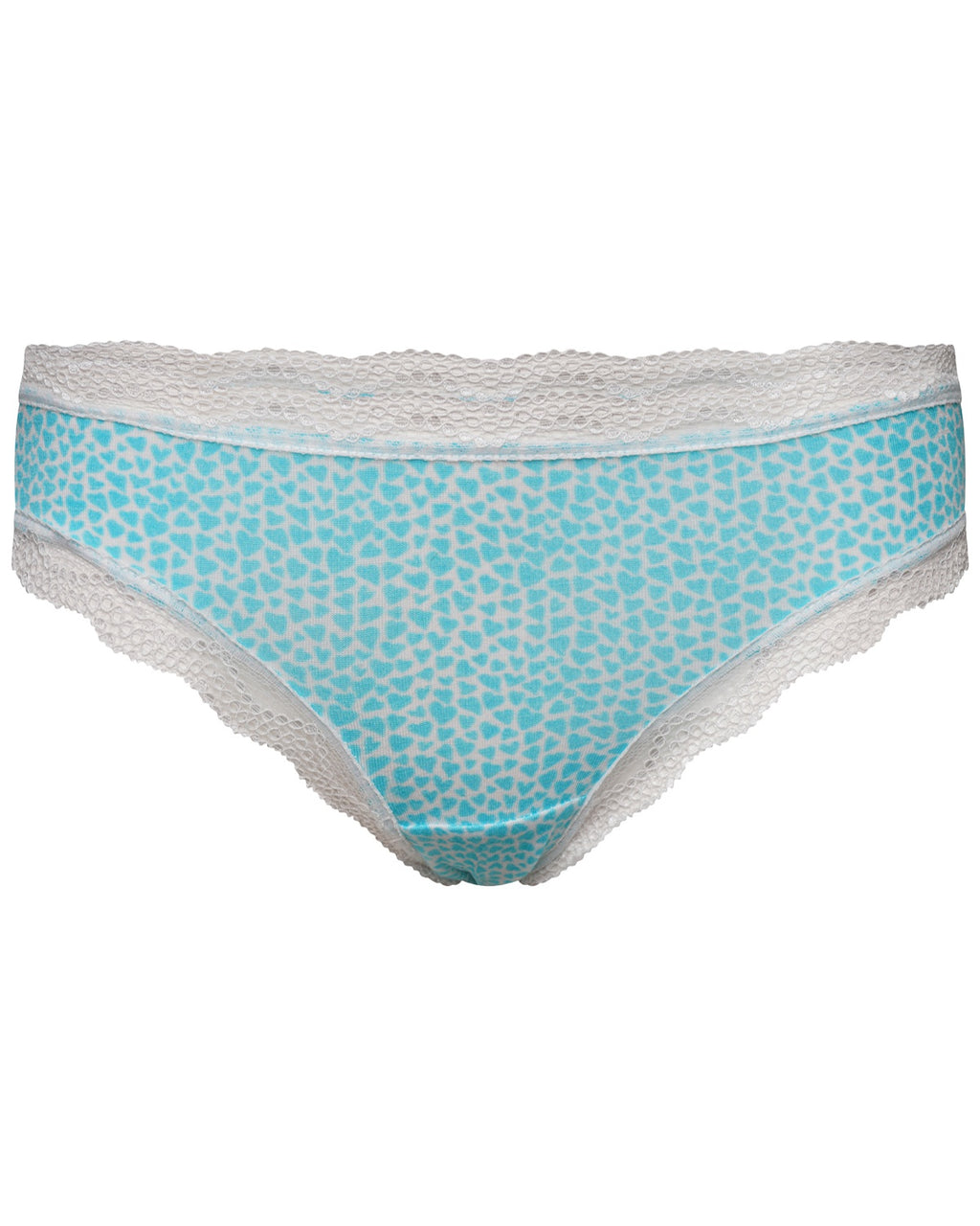 Turquoise Hearts Print Knicker