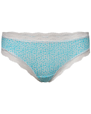 Turquoise Heart Print Knicker