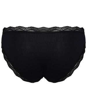 Limited Edition Jet Black Seal Embroidery Knicker