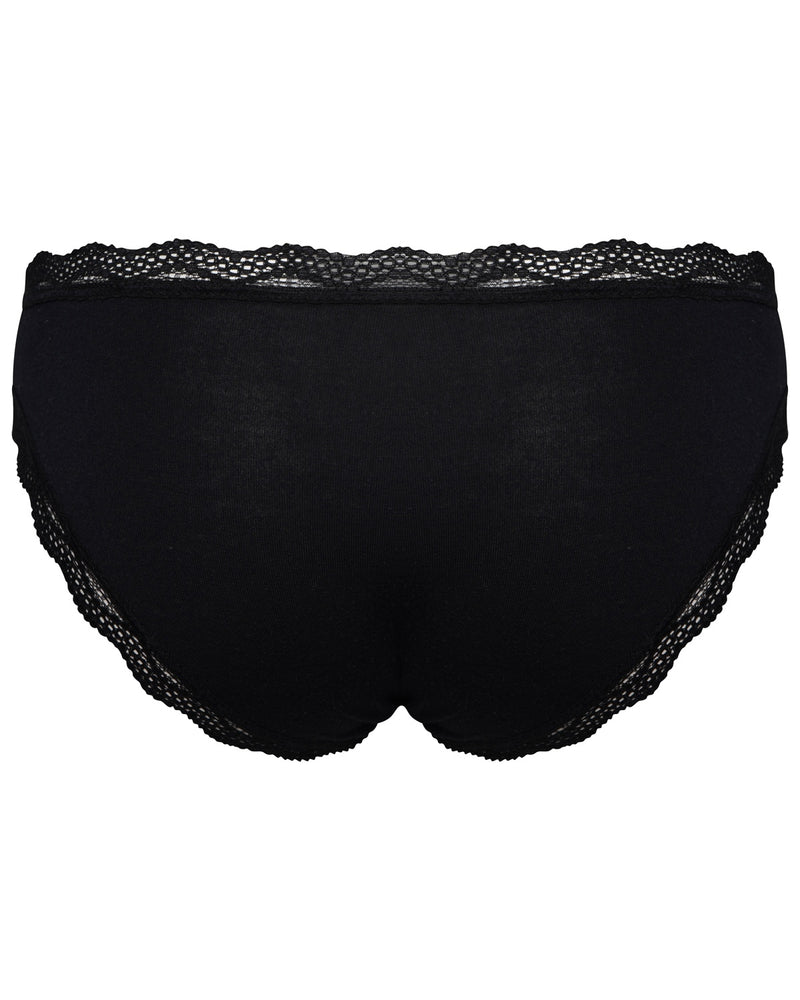 All Black 8 Knicker Pack