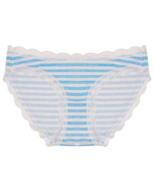 Blue Stripe Print Knicker