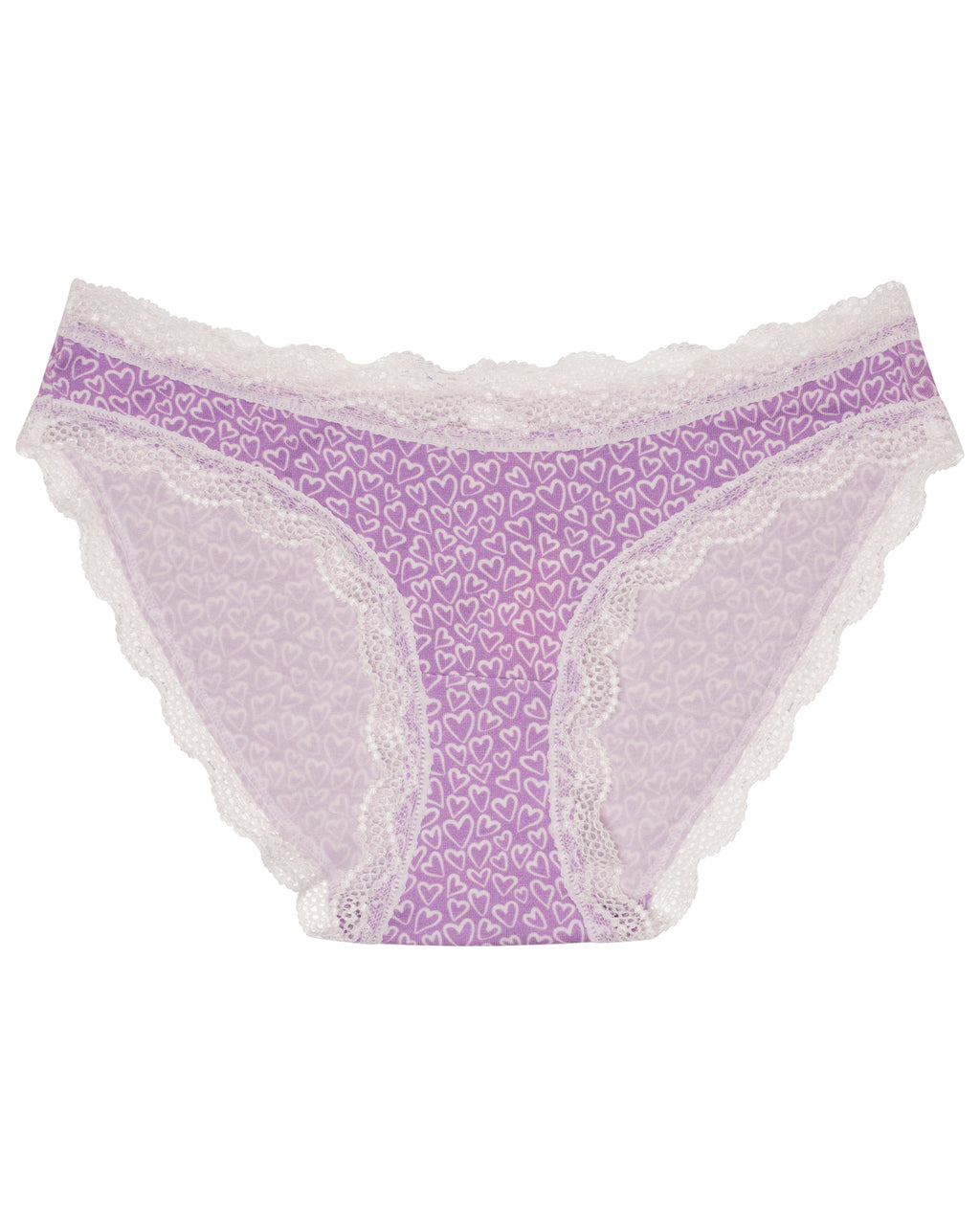 Purple Hearts Print Knicker