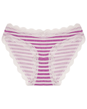 Purple Stripe Print Knicker