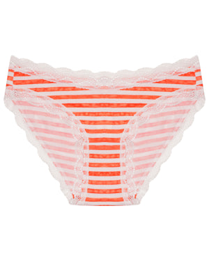 Orange Stripe Print Knicker