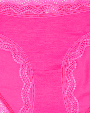 Neon Magenta Plain Original Knicker