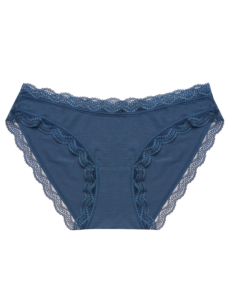 Dark Denim Plain Essential Knicker
