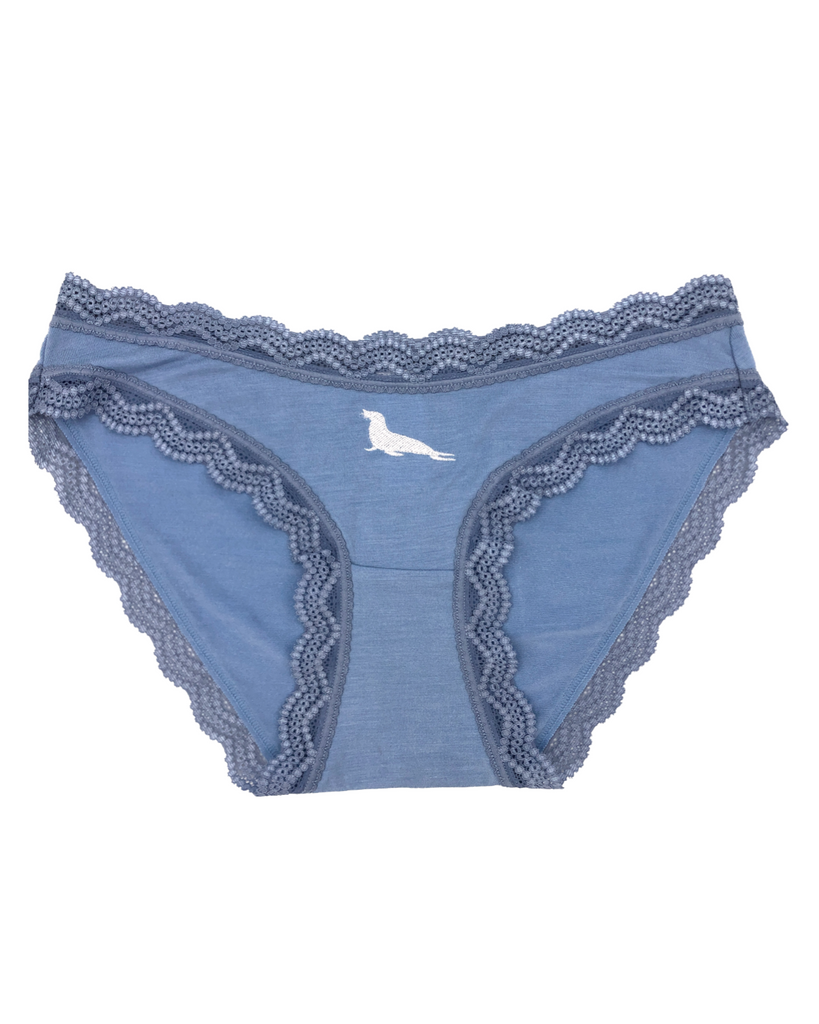 Limited Edition Light Denim Seal Embroidery Knicker