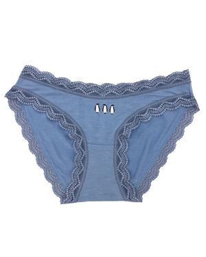 Limited Edition Light Denim Penguins Embroidery Knicker