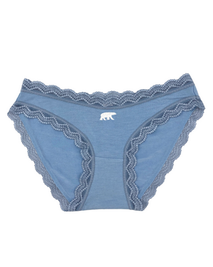 Limited Edition Light Denim Polar Bear Embroidery Knicker