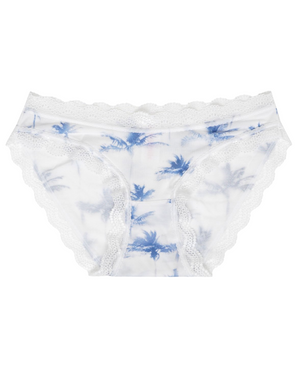 Blue Palm Print Knicker