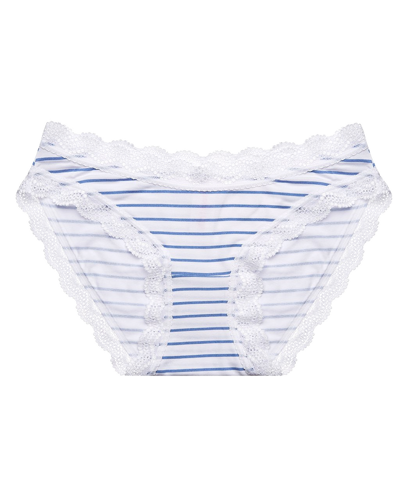Navy Blue Stripe Print Knicker