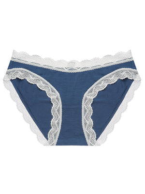 Dark Denim Contrast Essential Knicker