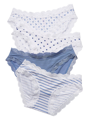 Nautical 4 Knicker Pack