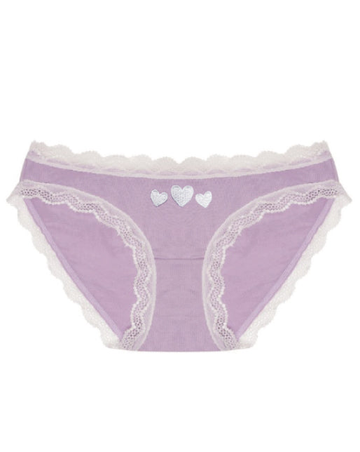 Lavender Hearts Embroidered Knicker