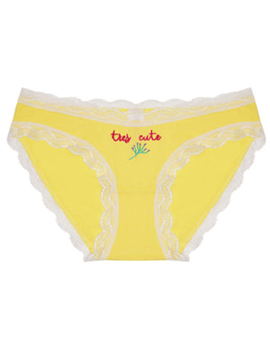 Tres Cute Embroidered Yellow Knicker