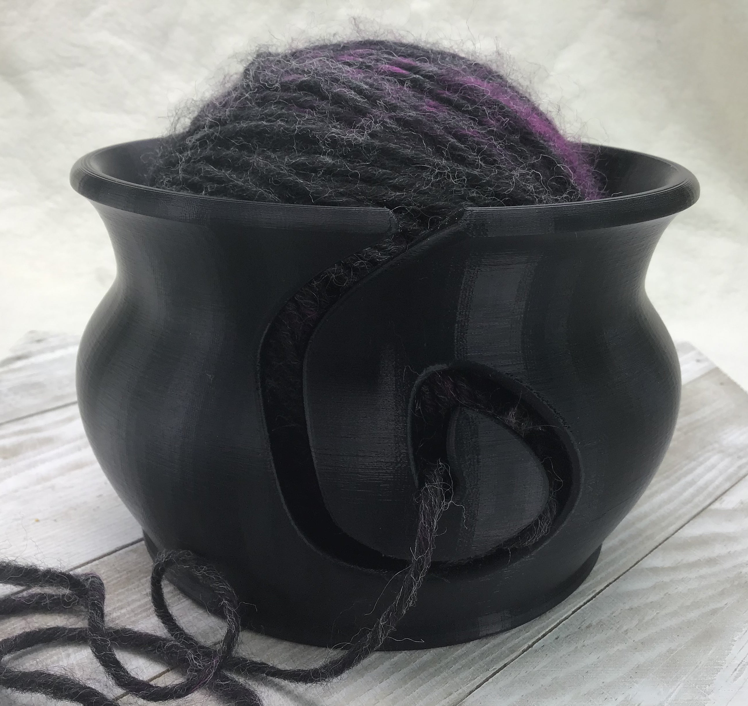 Yarn Bowl - Jet Black - Steep Hill Farm