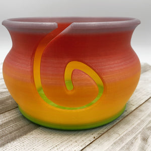 Multicolor Yarn Bowl- Pink/Yellow