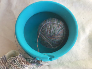Turquoise Yarn Bowl - Steep Hill Farm