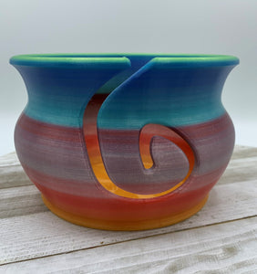 Multicolor Yarn Bowl- Blue/Purple