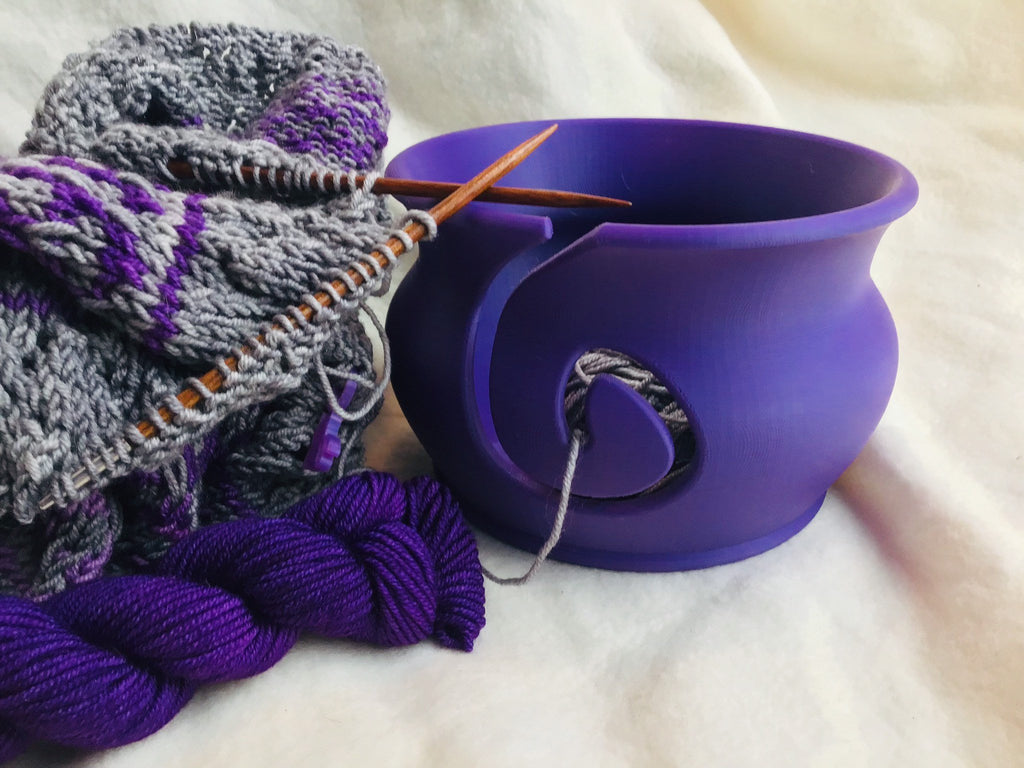 Yarn Bowl - Purple - Steep Hill Farm