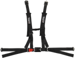 UTV 4-POINT 2 INCH LATCH & LINK OFF-ROAD HARNESS BLACK