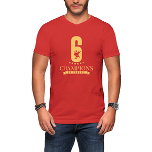 f6f06786 Liverpool LFC T Shirt V-neck for Him - Champions of Europe