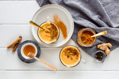 Golden Latte with Turmeric, Cinnamon + Ginger | FREE RECIPE