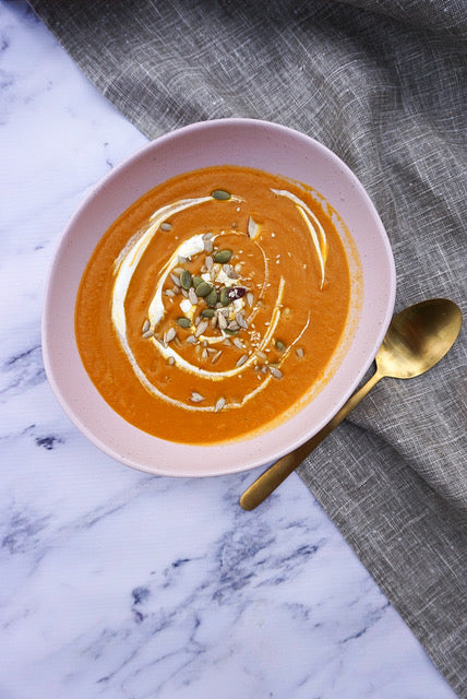 THE BOD Easy Creamy Vegan Pumpkin Soup Recipe