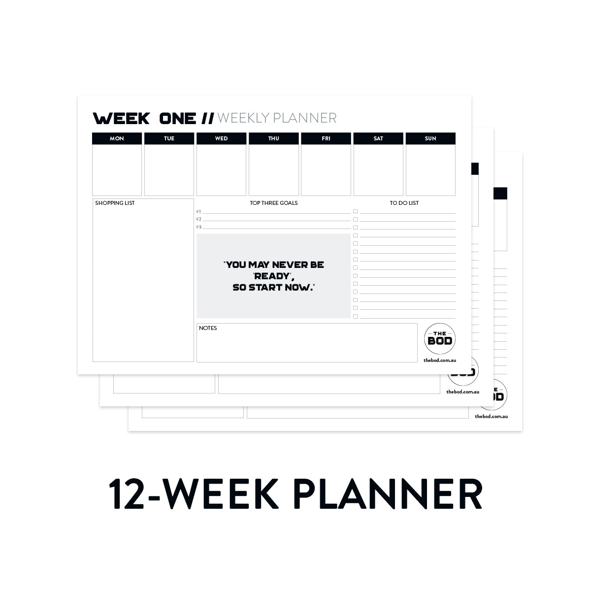 graphic relating to Week Planner Printable referred to as Restart 12-7 days Printable Planner