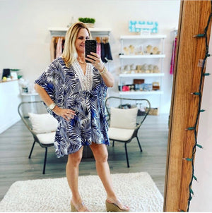 Tropical Leaf Caftan