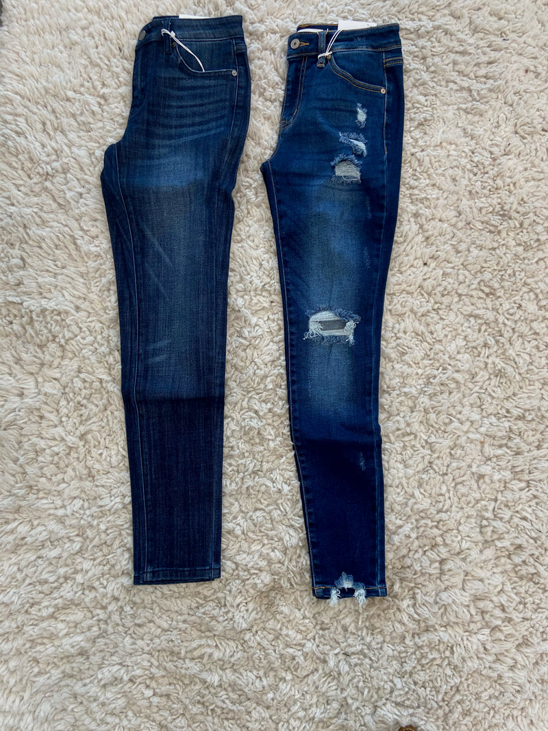 Distressed Midrise Jeans